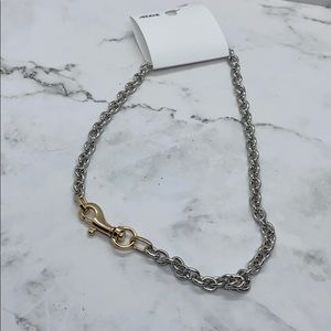 Silver and gold chain necklace